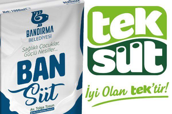 Bandırma Belediyesi'nin kampanyasına sütler Teksüt'ten