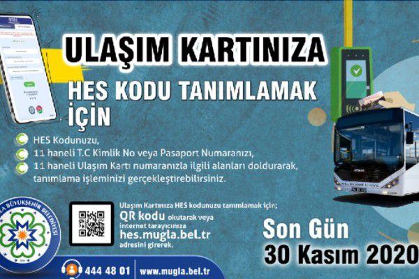 Muğla'da Toplu Ulaşımda HES Kodu Zorunlu Oluyor