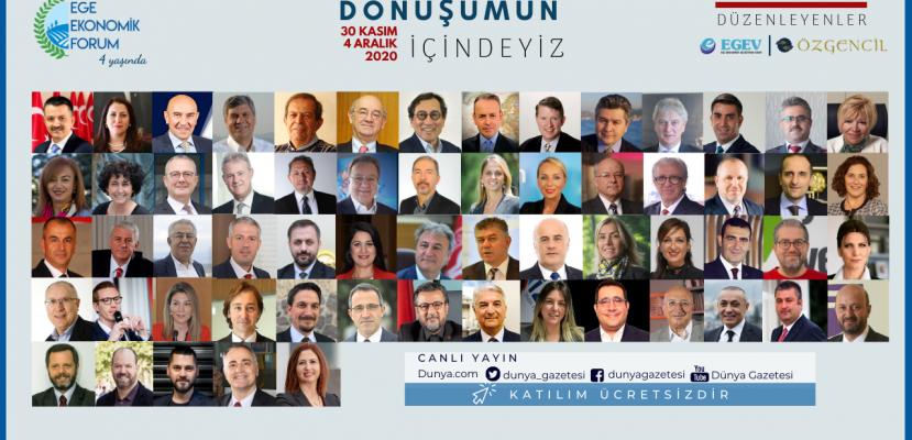 Türkiye Ekonomisinin İtici Gücü Ege Bölgesi'nin Geleceği ve Gelişim Alanları Ege Ekonomik Forumu'nda Konuşulacak