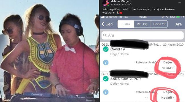 Ünlü DJ Mahmut Görgen Koronavirüsü atlattı!