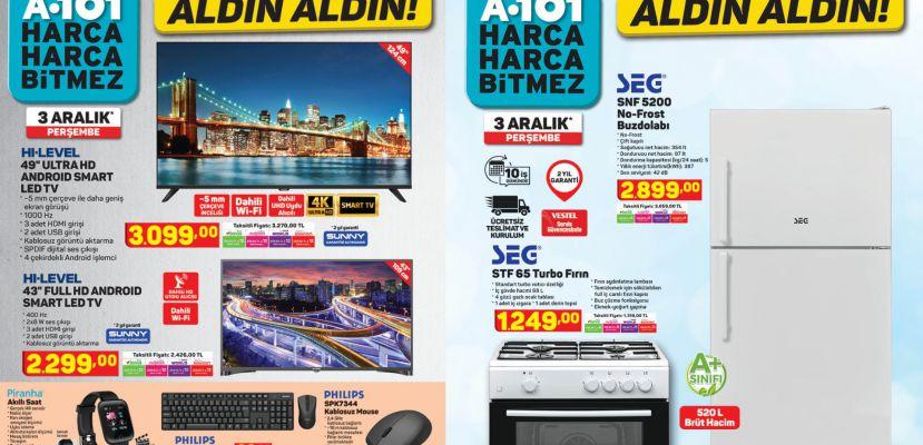 Aralık ayının ilk haftasında uygun fiyatlı birbirinden kullanışlı teknolojik ürünler A101'de
