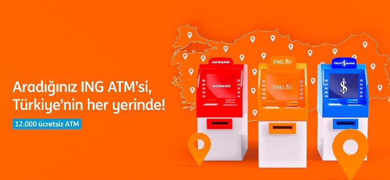 ING'liler Türkiye genelinde 12.000 ATM'yü ücretsiz kullanabilecek