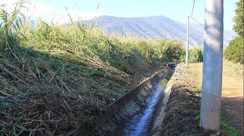 Antalya Büyükşehir Belediyesi sulama kanallarını temizliyor