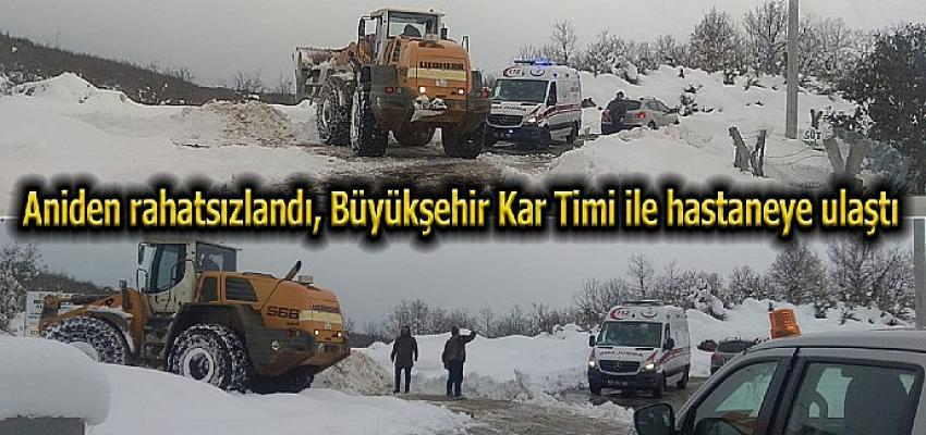 Büyükşehir Kar Timi'nden hayati müdahale