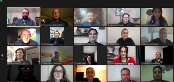 CHP, iktidar çalışmalarına çevrimiçi derslerle devam ediyor
