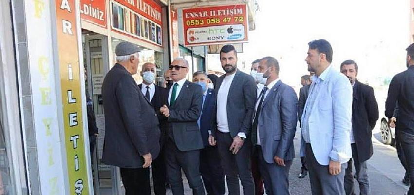 Gelecek Partisi Batman İl Başkanı Abdulbaki Polat'tan esnafa ziyaret