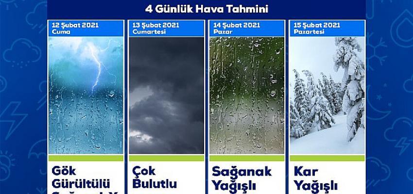 İzmir Aliağa'da Pazartesi Kar Bekleniyor