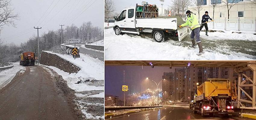 Kocaeli'de karla mücadelede 6.000 ton tuz kullanıldı