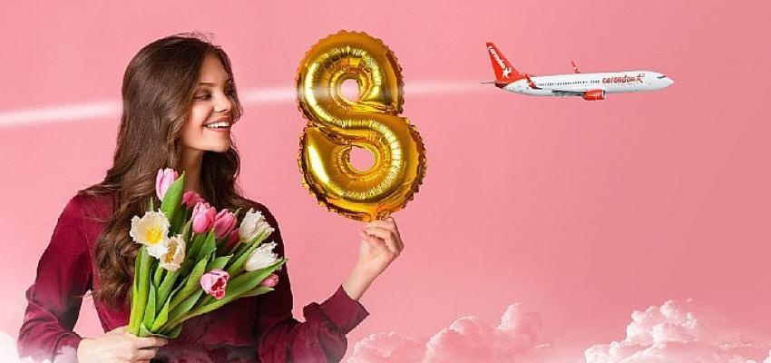 """Corendon Airlines'tan """"Kadınlar Günü""""ne özel 8 indirim"""