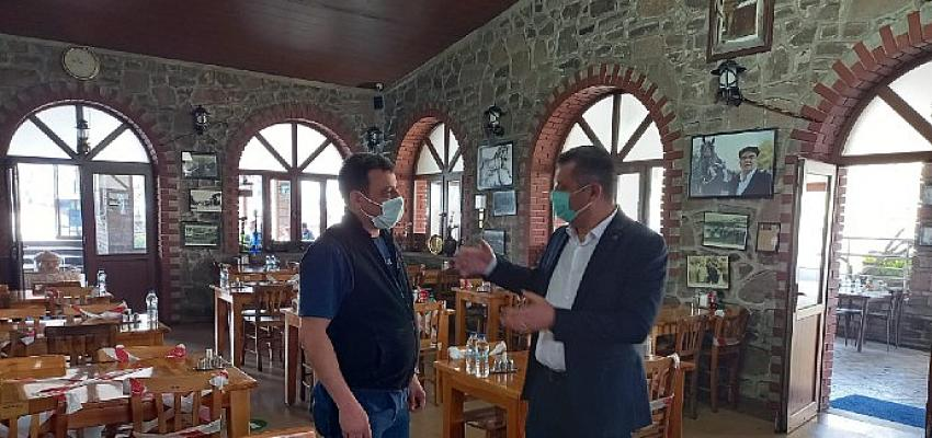 Gelecek Partili Başkan Keskin, restoran ve kafeleri inceledi