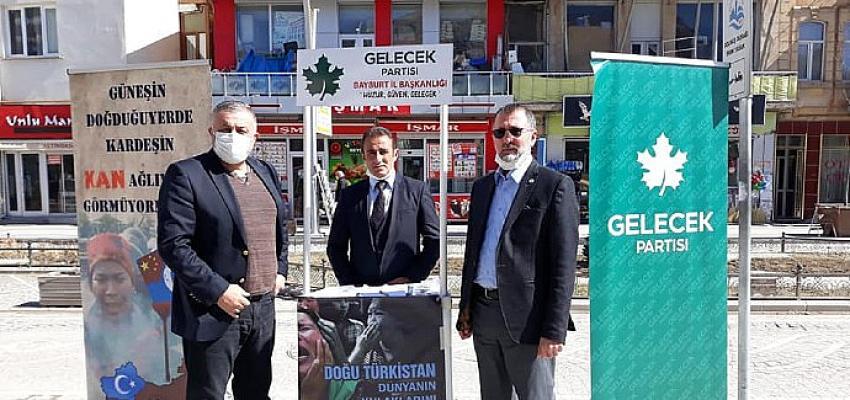 Gelecek Partisi Uygur Türkleri için imza topladı