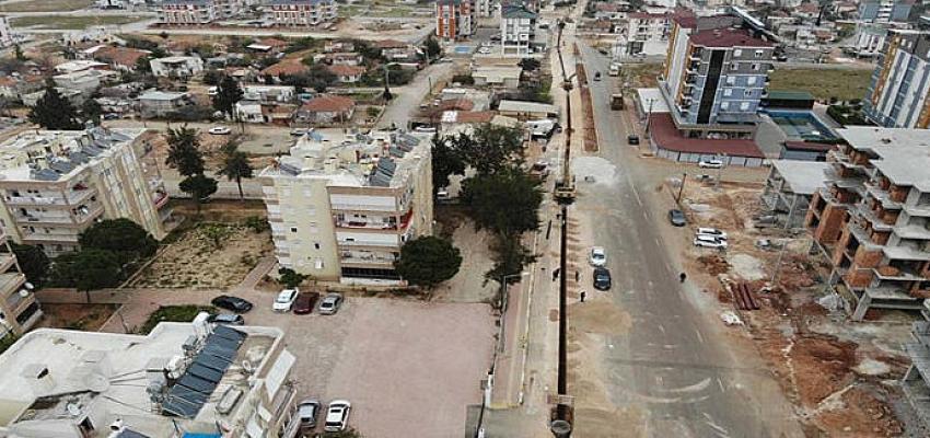 Kepez'de 10 mahallede kanalizasyon çalışması sürüyor