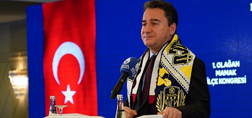 Ali Babacan'dan Bahçeli'ye: 'Adınız siyasi tarihe 'kriz ortağı' olarak yazılacak'