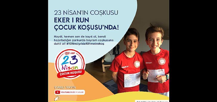 Eker'in online olarak düzenlediği 23 Nisan Çocuk Koşusu başlıyor
