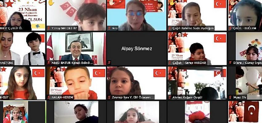 İKKB ve Konak Belediyesi'nden çevrimiçi 23 Nisan etkinliği: Dünya çocukları buluştu