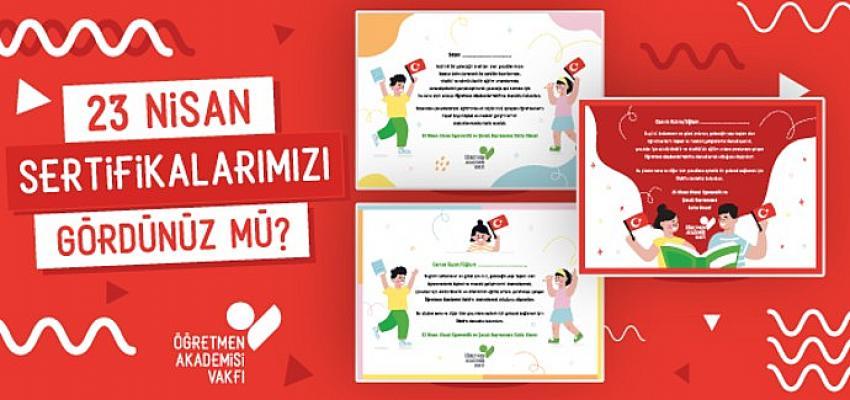 ÖRAV'dan 23 Nisan için bağış sertifikası