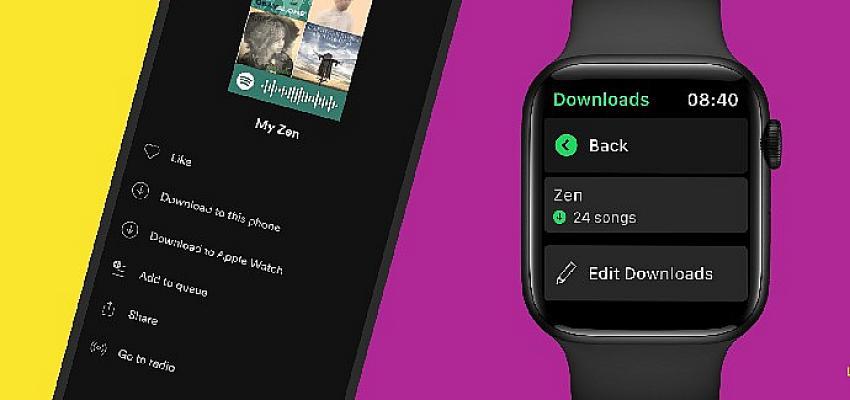 """Çevrimdışı ve telefonsuz bir audio deneyimi için Spotify, Apple Watch'a """"İndir"""" özelliğini getiriyor"""