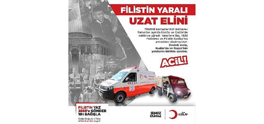 Türk Kızılay'dan Filistin'e acil ilaç ve ambulans yardımı
