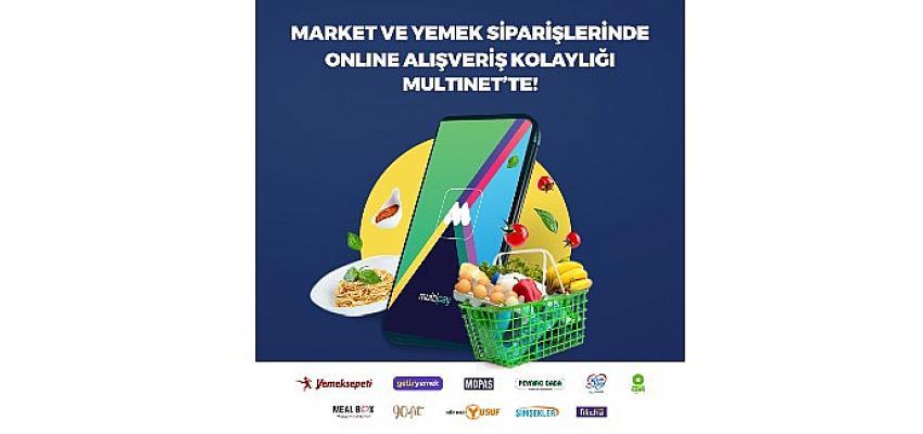 Yemek kartı kullanıcısı online siparişe yöneldi; MultiNet yemek kartının online kullanımı iki kat arttı