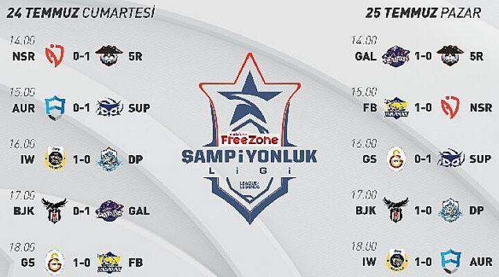 VFŞL 7. Haftada Galatasaray Espor'un liderliği devam ediyor